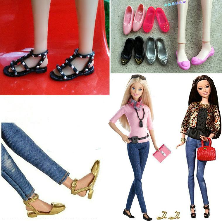 星星玩具6分娃娃正版鞋子配件Style doll官配平底高幫  羅馬涼鞋