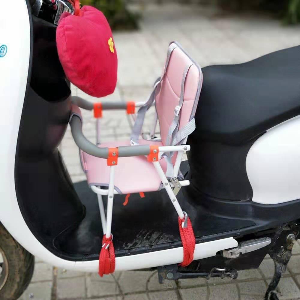 小天航新款电动车摩托车踏板车儿童小孩前置座椅宝宝折叠座椅