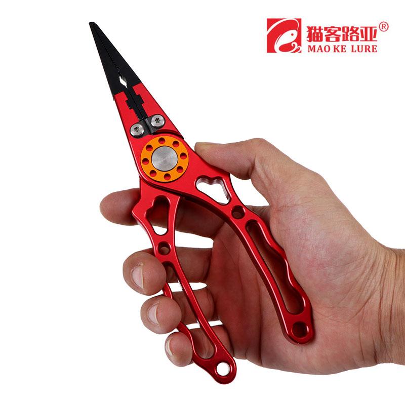 路亞傳說太空鋁路亞鉗子不鏽鋼控魚器魚扣彎嘴鉗摘鉤器剪線鉗