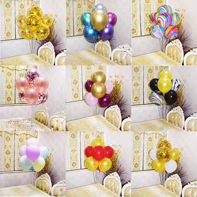 气球底座透明托杆支架气球桌飘立柱婚宴台生日派对摆件气球树