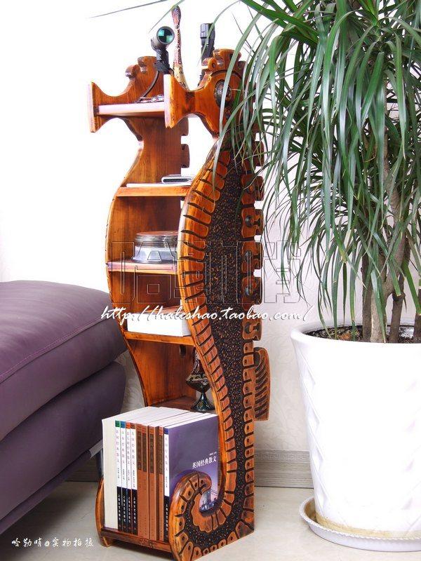 创意古典家具海马实木cd架多层搁板置物架复古收纳柜碟片架包邮
