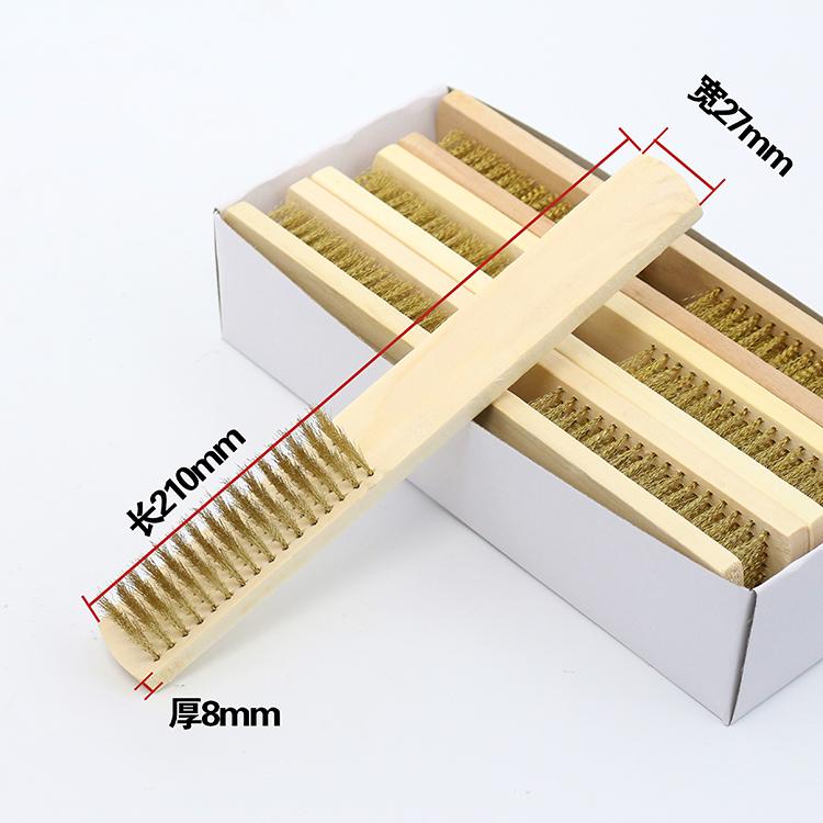 木柄文玩钢丝刷 金刚菩提清理铜丝刷子文玩清洁钢丝刷木柄钢铜刷