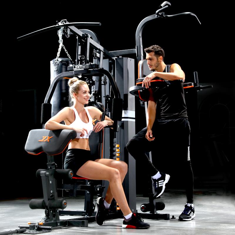JX健身器材家用综合训练器三人站多功能大型器械力量训练套装组合