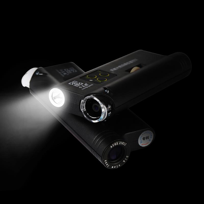 卡兰德品牌EDA100倍手机夹400倍显微镜手电筒古玩书画痕迹助鉴定