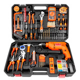 Yadeli household electric drill hand tool set hardware toolbox electrician woodworking multifunctional special maintenance tool