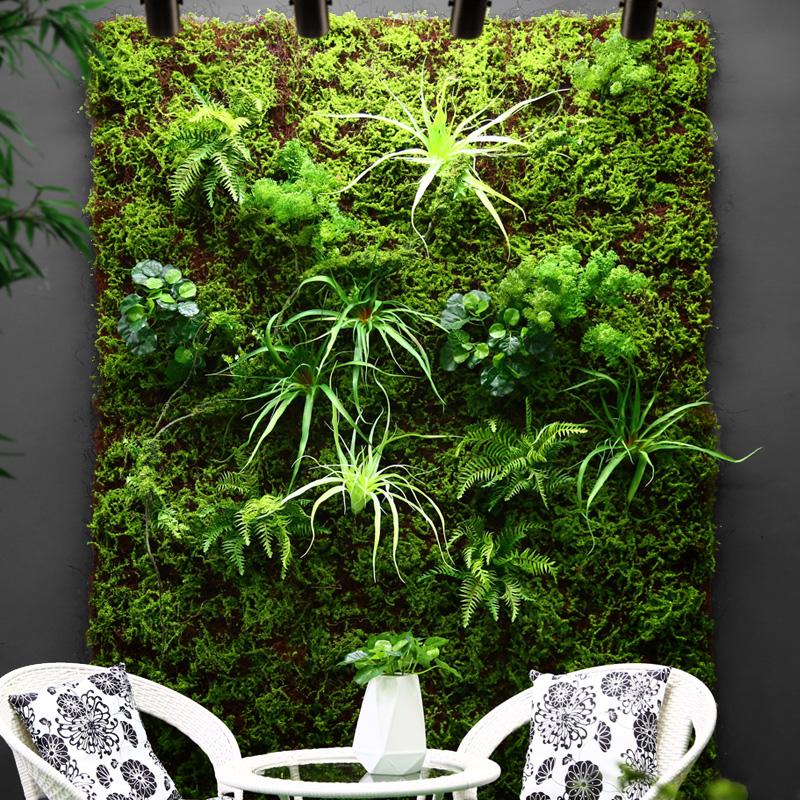仿真植物墙绿植墙面装饰草皮草坪背景墙绿色吊顶室内假草门头花墙