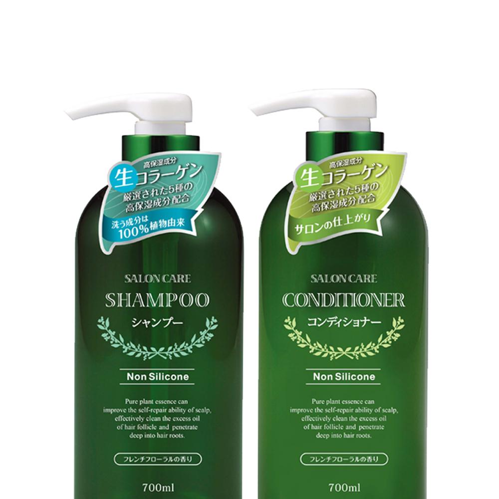 日本熊野油脂植物沙龙洗发水+护发素