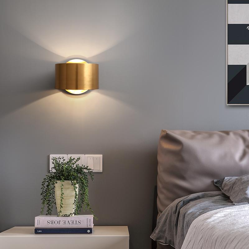 后现代轻奢客厅壁灯酒店床头卧室餐厅过道走廊楼梯设计师小壁灯