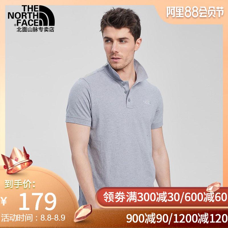 TheNorthFace北面19春夏新款透氣舒適戶外男運動短袖POLO衫|3VRA