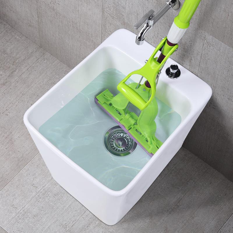 陶瓷小号拖把池阳台拖布池落地式家用卫生间墩布池洗拖把盆地拖桶