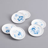 Other kind and Ge Hotang fun hand-painted tea cup mat Blue Flower porcelain insulated tea cup to the kung fu tea set tea ceremony accessories