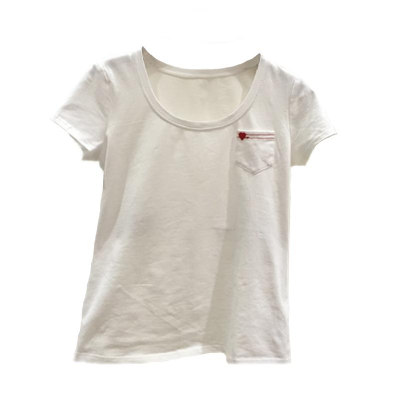 新颖哥弟特2018夏新款正品白红心短袖T恤女1001-300622-241061