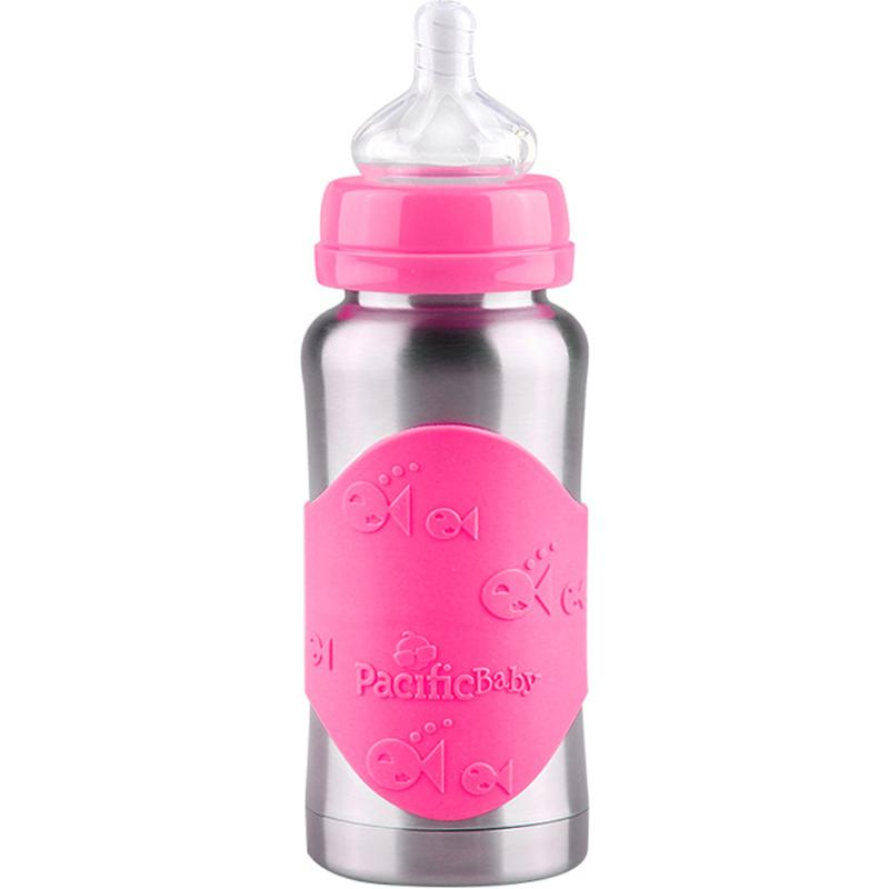 美国Pacific Baby太平洋宝贝婴儿宝宝不锈钢保温奶瓶两用正品进口