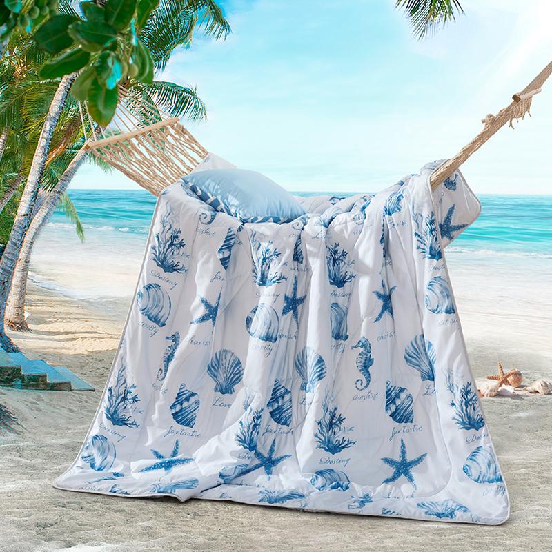 LOVO家纺床上用品夏凉被空调被芯被子蚕丝夏被单人双人床