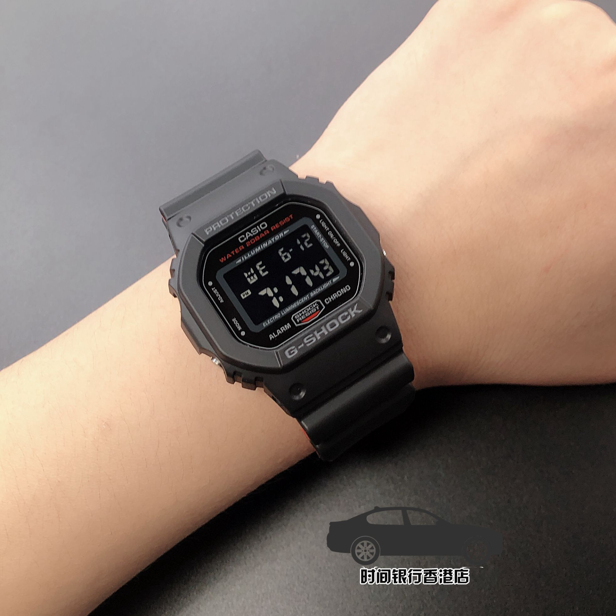 1 5600BB DW 女电子表 手表经典方块防水运动男 shock g 正品卡西欧