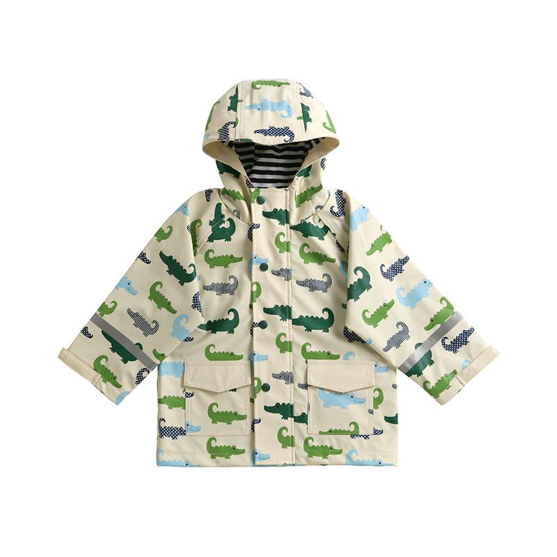 韩国has 儿童时尚雨衣男女宝宝幼儿园小学生防风潮流厚雨披冲锋衣