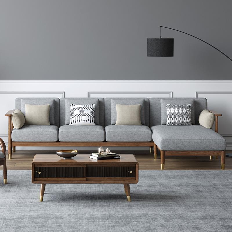 型客厅新中式木质家具
