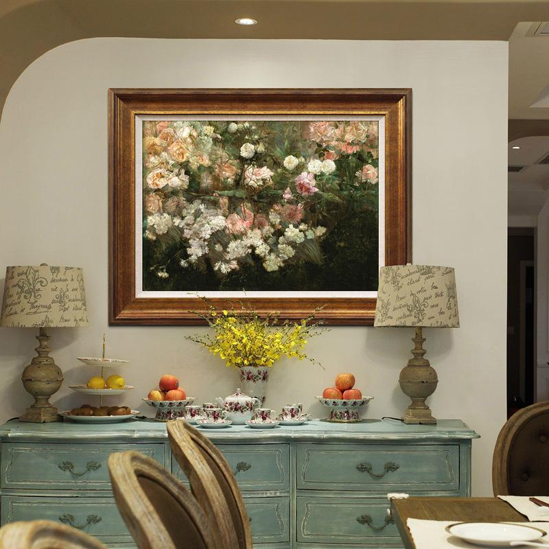 五月花園 歐式美式客廳餐廳臥室玄關田園風景油畫裝飾畫義派版畫