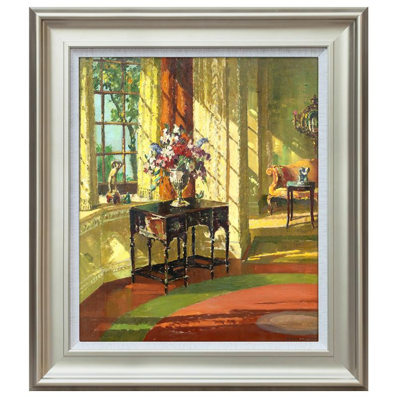 陽光滿屋 英國風景油畫靜物建筑 歐式美式玄關走廊過道裝飾畫版畫