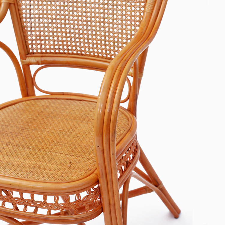 厂家直销懒人手工编织老人电脑办公单人藤椅阳台休闲腾编椅子滕椅