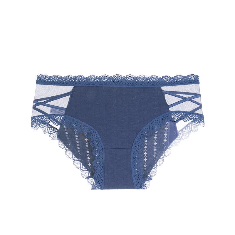 4条装内裤女蕾丝夏薄款速干透气无痕纯棉裆抗菌裤头中低腰三角裤