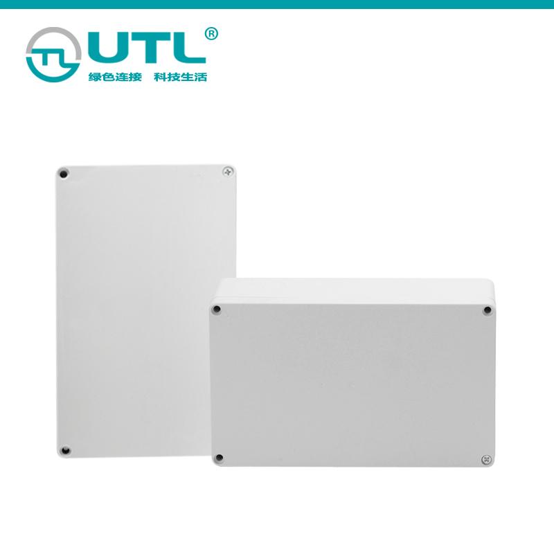 安防监控带耳防水盒 F型室外防水塑料接线盒户外卫生间塑料壳盒子