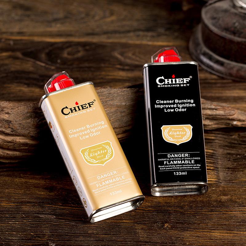 正品首领CHIEF煤油打火机油通用清香型男士专用燃油火石棉芯配件