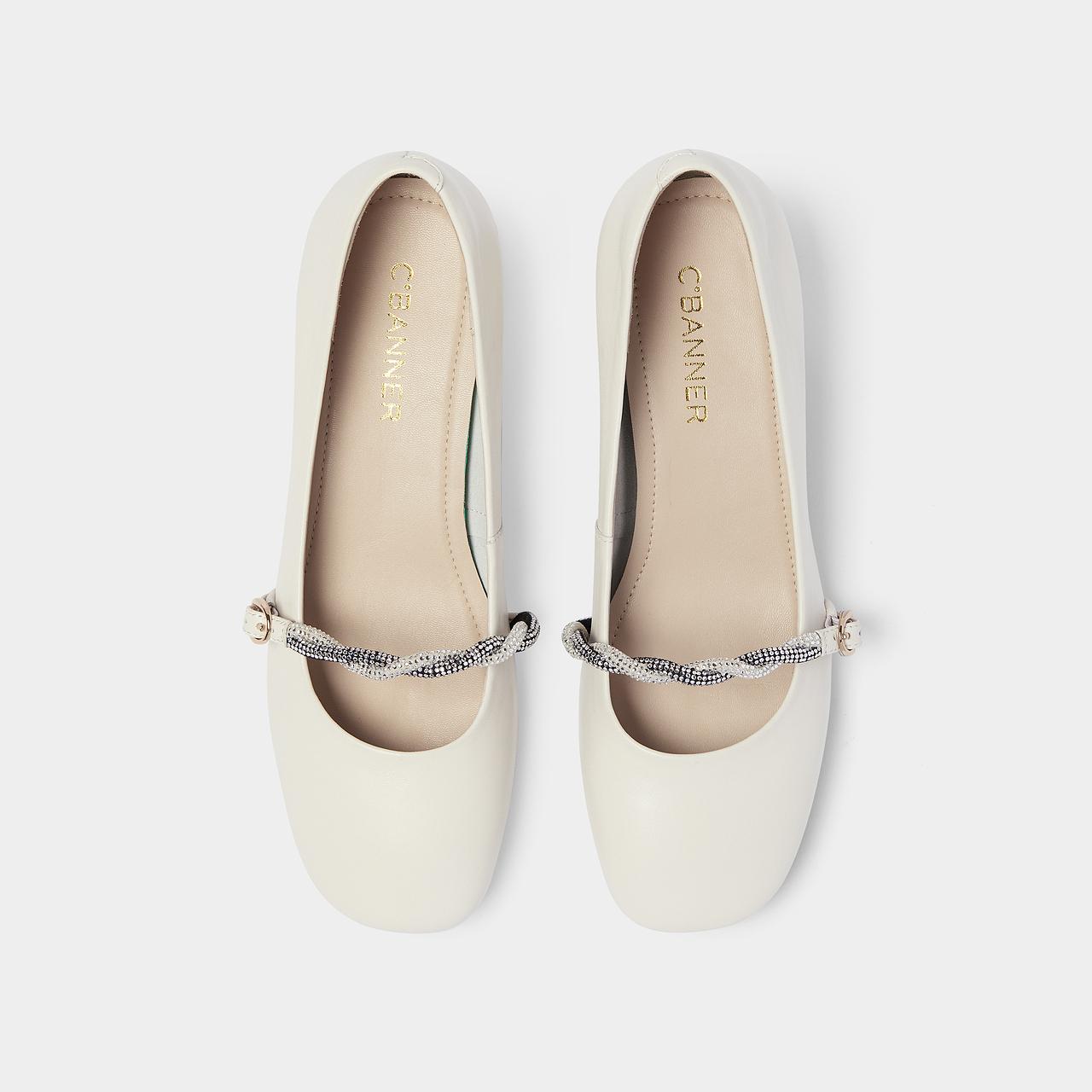 新款时尚森女风玛丽珍鞋奶奶鞋 2021 千百度女鞋简约休闲甜美低跟鞋