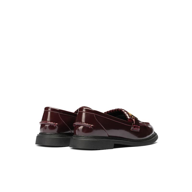 真皮学院风浅口低跟乐福鞋 新款英伦方跟牛津鞋 2020 千百度女鞋