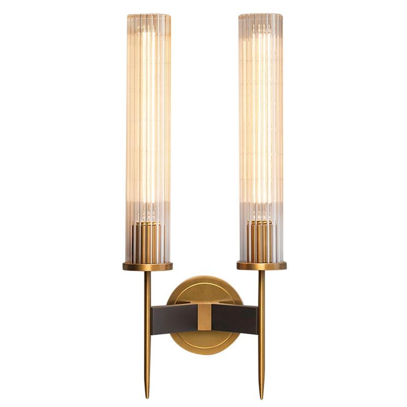 后现代全铜壁灯轻奢客厅书房卧室壁灯简约北欧床头背景墙纯铜壁灯