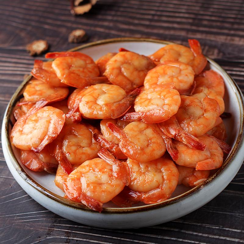即食虾仁海虾对虾海鲜零食小吃虾干鲜虾香辣虾大连海鲜特产 珍洋