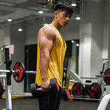 Fitness training clothing vest male fashion European and American loose sleeveless stretch and quick movement running basketball fitness clothing