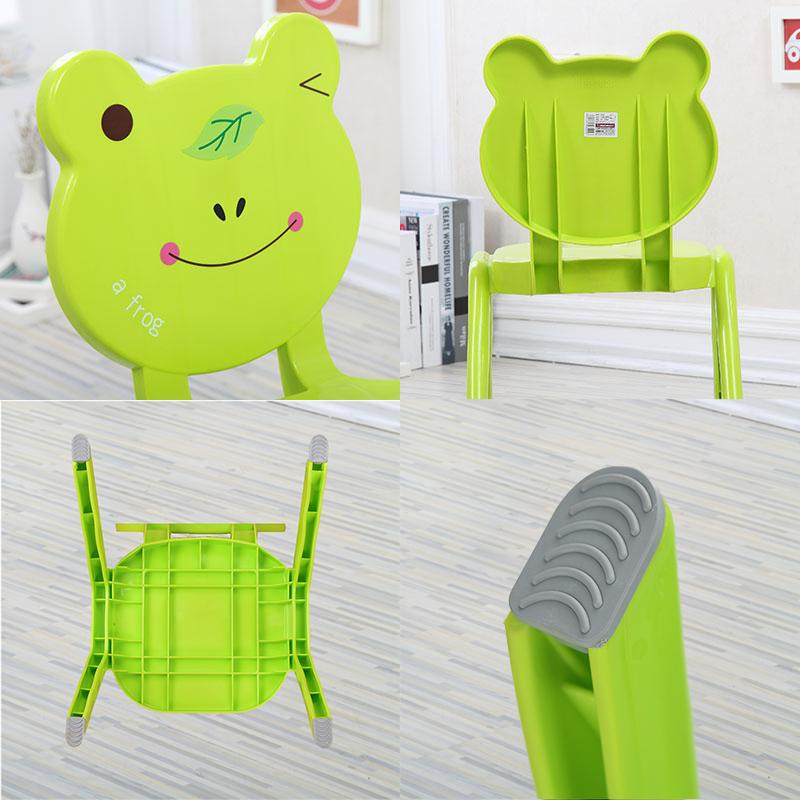 幼儿园课桌椅加厚塑料动物靠背椅宝宝安全小凳子卡通儿童餐椅套装