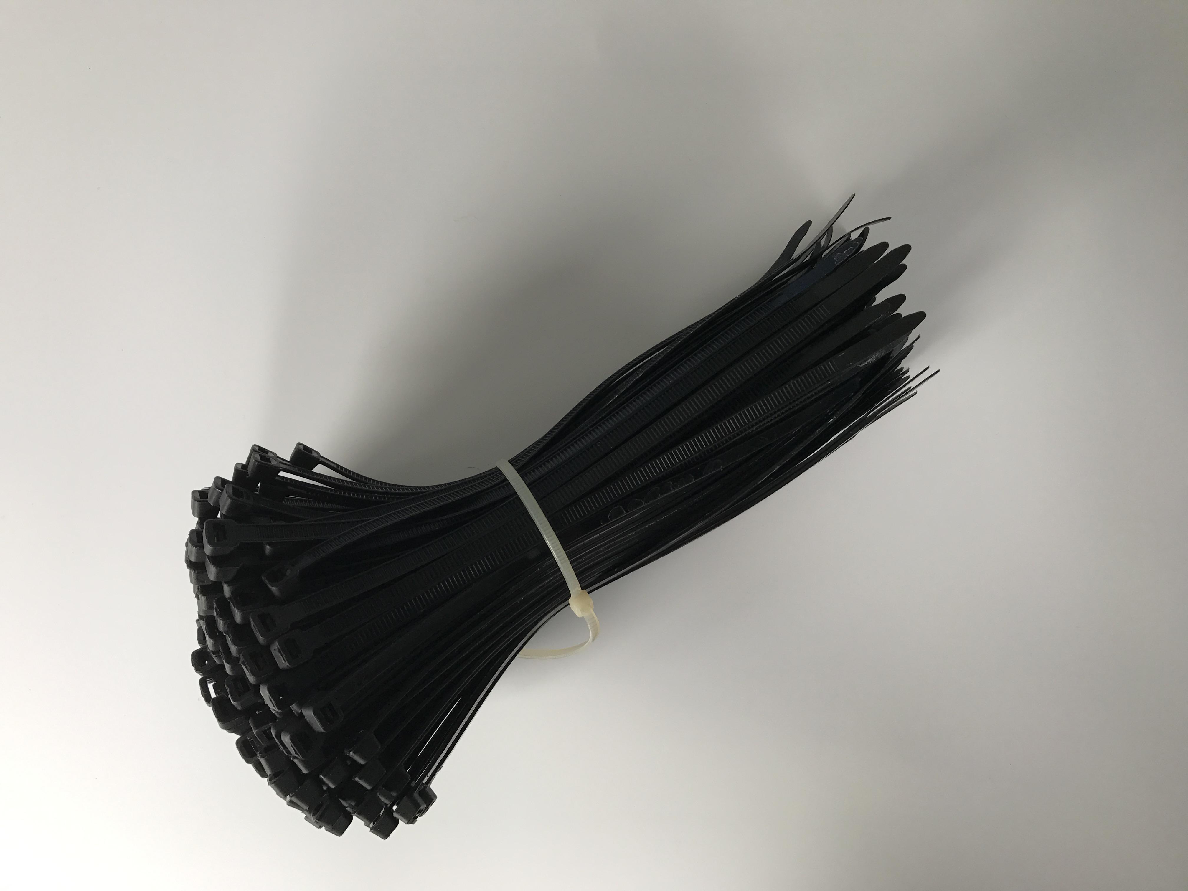 厂家直销黑色扎带尼龙捆线带3*60-8*500各种规格固定扣束线带包邮