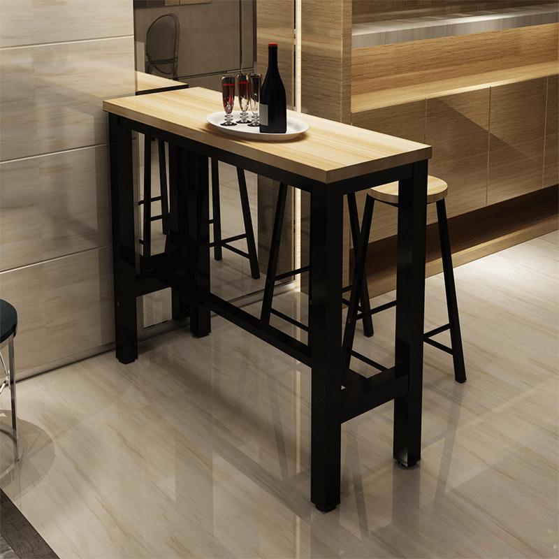 简约吧台桌家用餐桌靠墙小吧台桌客厅隔断玄关柜长条桌高脚桌吧台