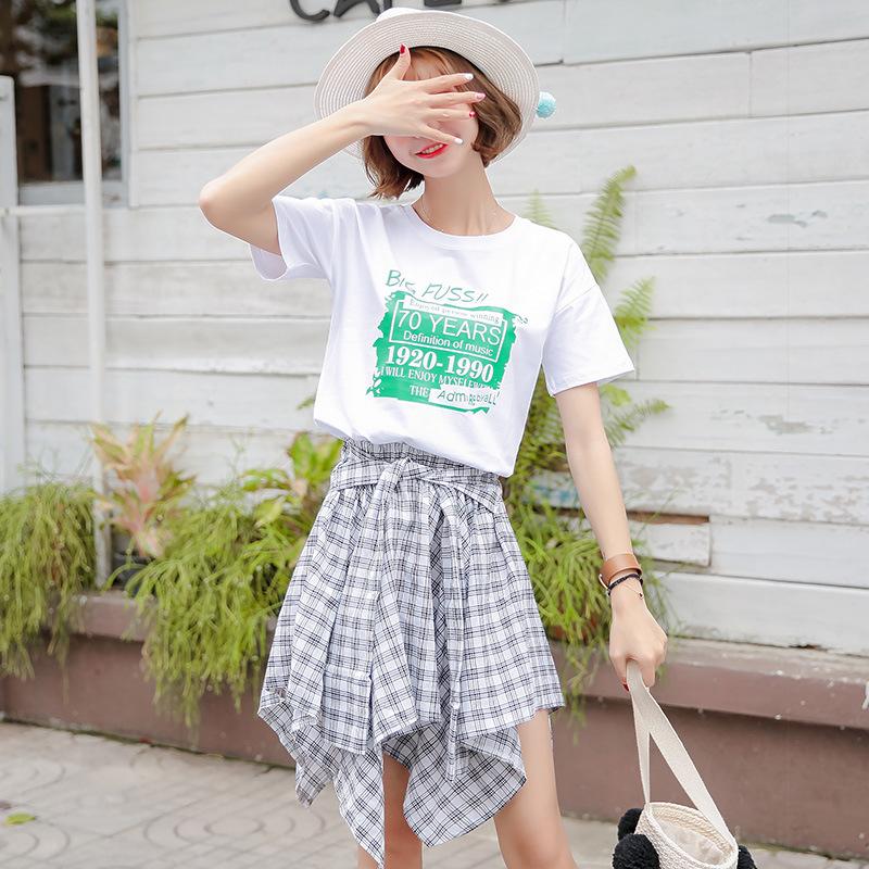 纯棉短袖T恤女2018夏季新款潮韩流版宽松学生ulzzang上衣百搭半袖
