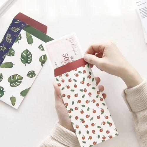 韩国文具GMZ小清新创意可爱卡通信封礼金红包袋礼券袋套装 6个入