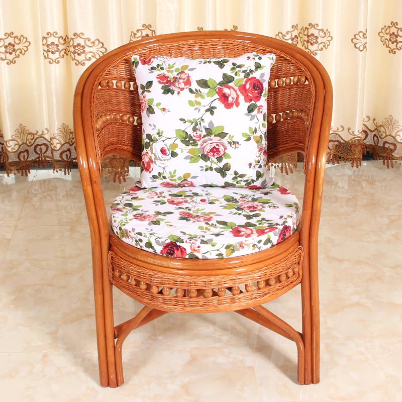 真藤椅三件套阳台桌椅客厅休闲现代简约庭院腾椅子茶几单人靠背椅