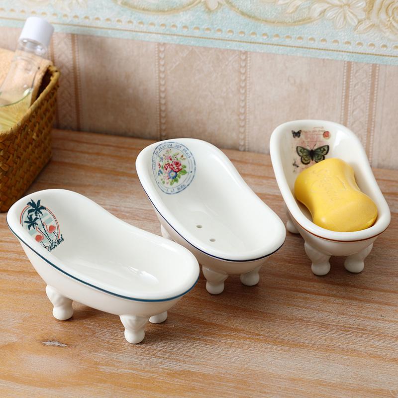 ins北欧沥水肥皂盒创意个性可爱肥皂碟浴室陶瓷香皂盒卫生间皂托
