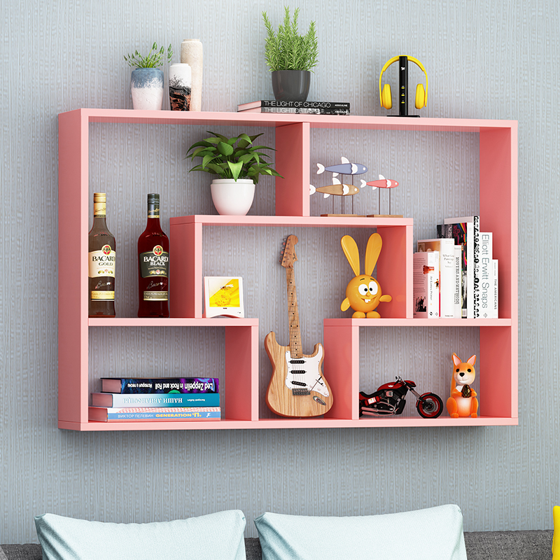 墙上置物架壁挂式壁柜墙壁挂墙面卧室隔板书架储物简约现代装饰架
