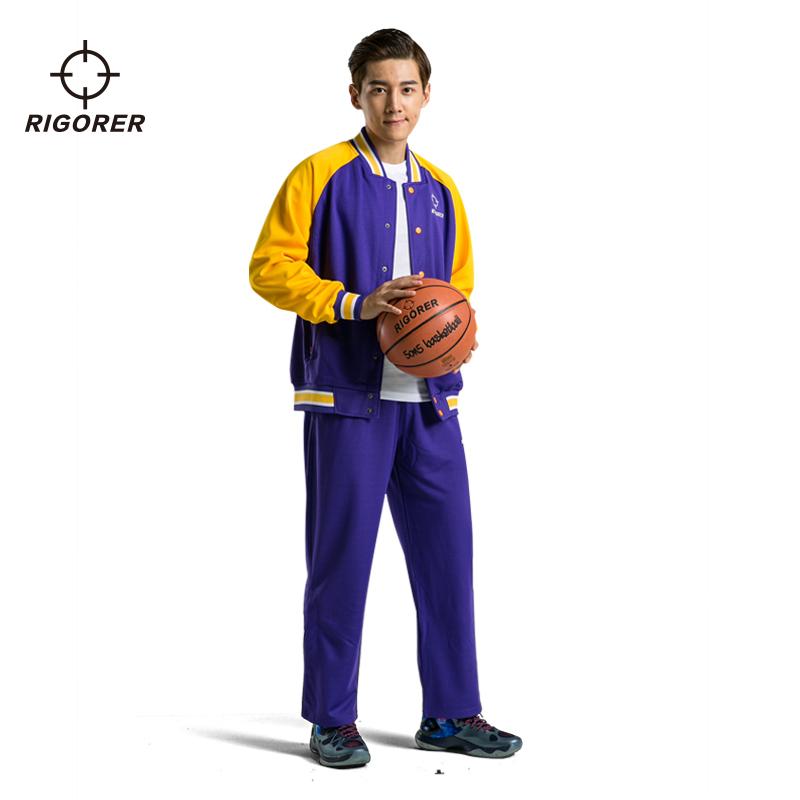 准者篮球出场服 套装男长袖卫衣外套DIY印字训练服出场服活动队服