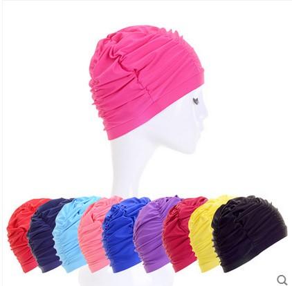 三奇布游泳帽女士新款超大號長髮護耳舒適時尚正品成人 泳裝用品