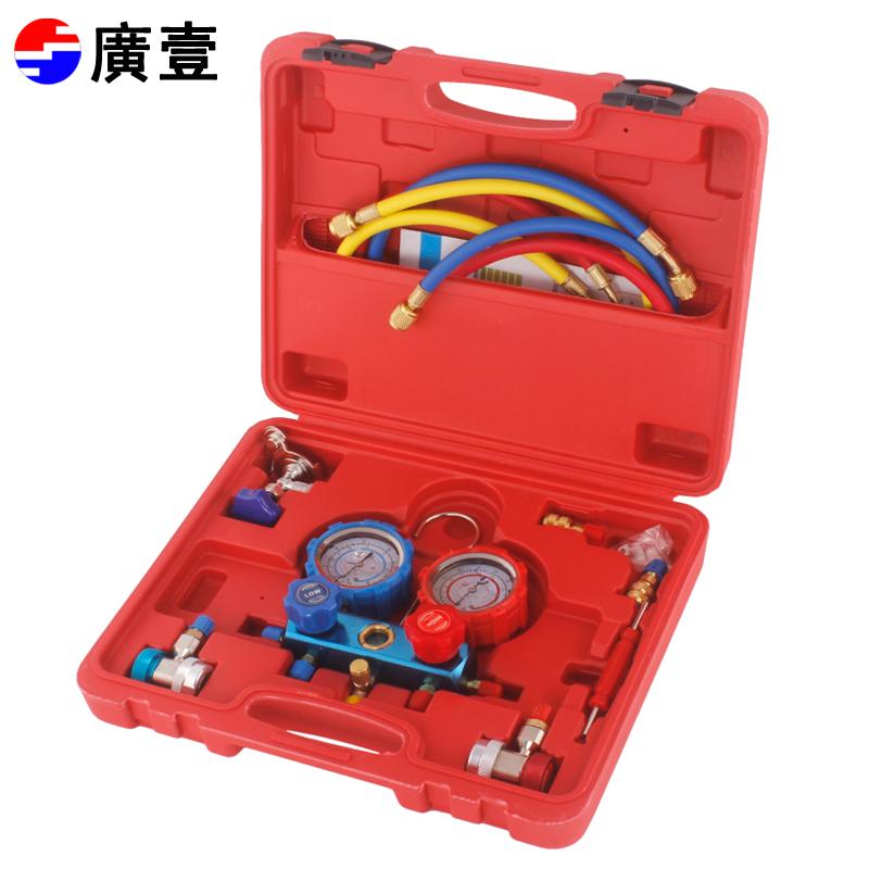 压力表 R410 R22 R134A 汽车家用带油雪种表加氟表防震冷媒表空调表