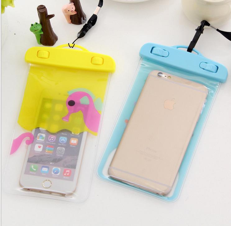 水下拍照手机防水袋温泉游泳苹果华为小米透明触屏挂脖手机保护套