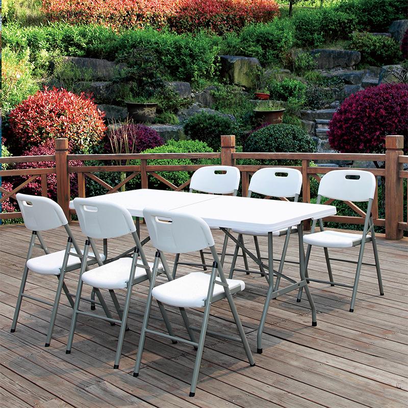 折叠桌子餐桌家用长方形长条桌活动桌摆摊长桌户外会议桌餐桌椅