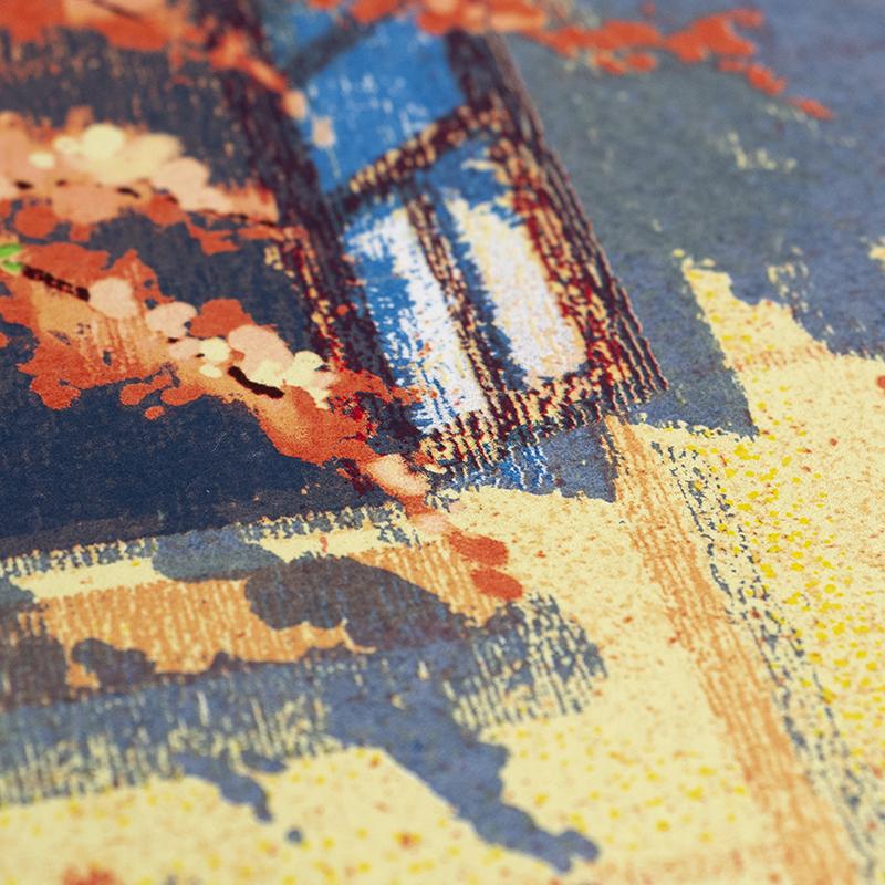 印物所x任龙【珞樱】丝网版画限量版画 卧室客厅书房玄关装饰画