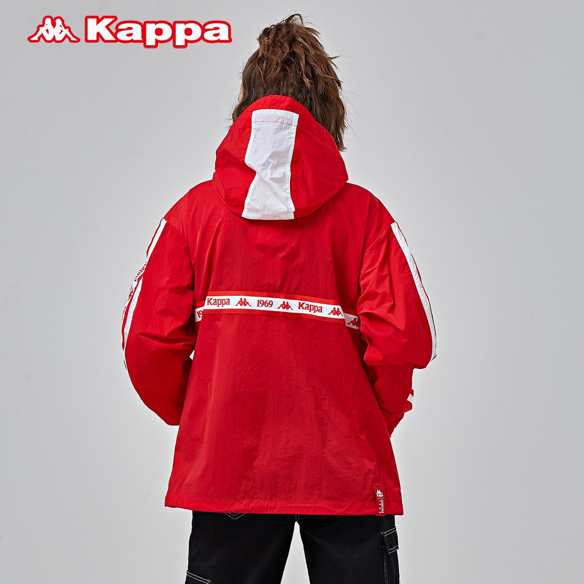 K09W2FJ05D 新款 2019 情侣男女防风衣休闲外套连帽开衫 卡帕 KAPPA