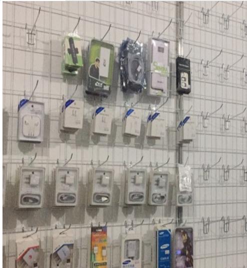 多功能展会铁艺网格网片饰品架铁网货架超市挂钩促销手机配件上墙