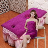 Beauty salon bed with large towel absorbent towel with hole beauty towel special massage therapy bed linen