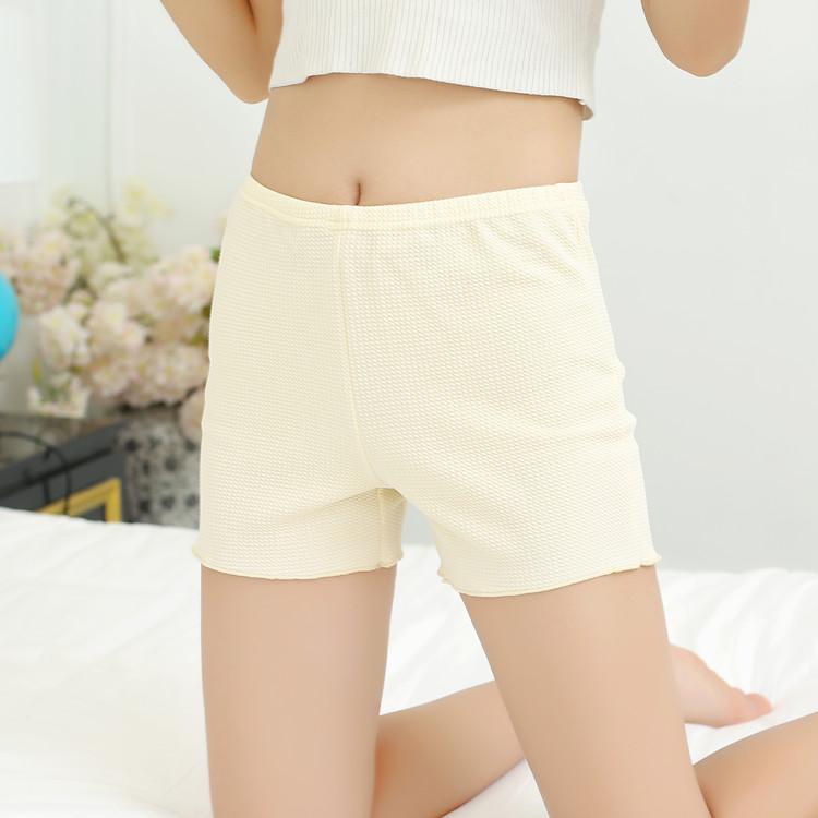 春夏薄款防走光安全裤外穿女士波浪边三分打底裤宽松短裤保险裤